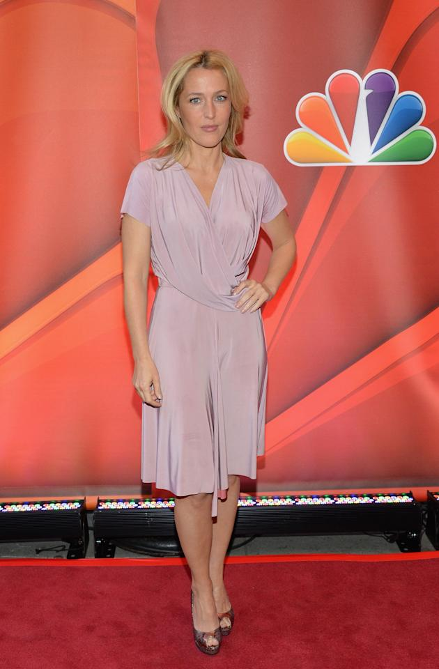 NEW YORK, NY - MAY 13:  Actress Gillian Anderson attends 2013 NBC Upfront Presentation Red Carpet Event at Radio City Music Hall on May 13, 2013 in New York City.  (Photo by Slaven Vlasic/Getty Images)