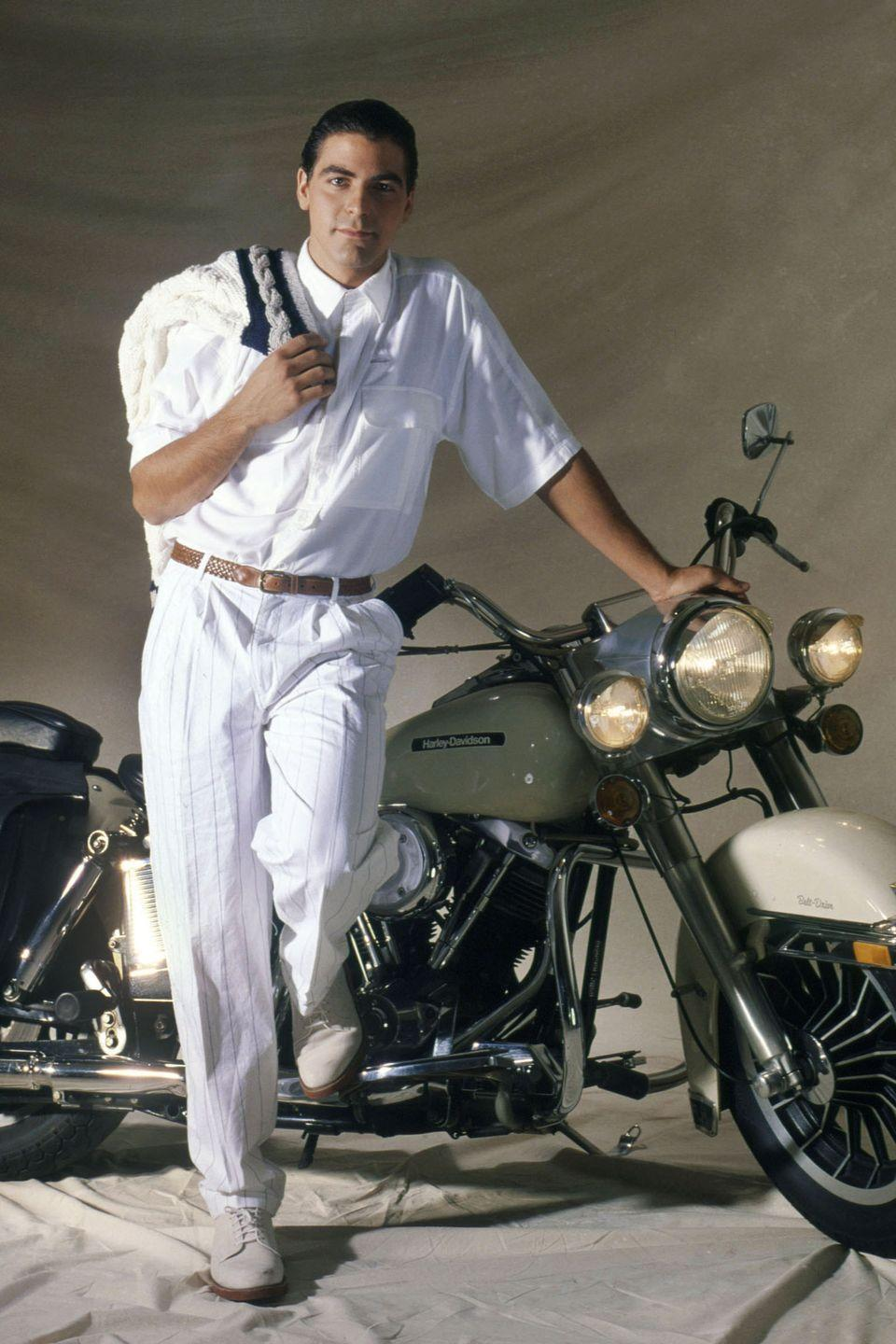 <p>Clooney poses for a portrait in 1992 in Los Angeles, California.</p>
