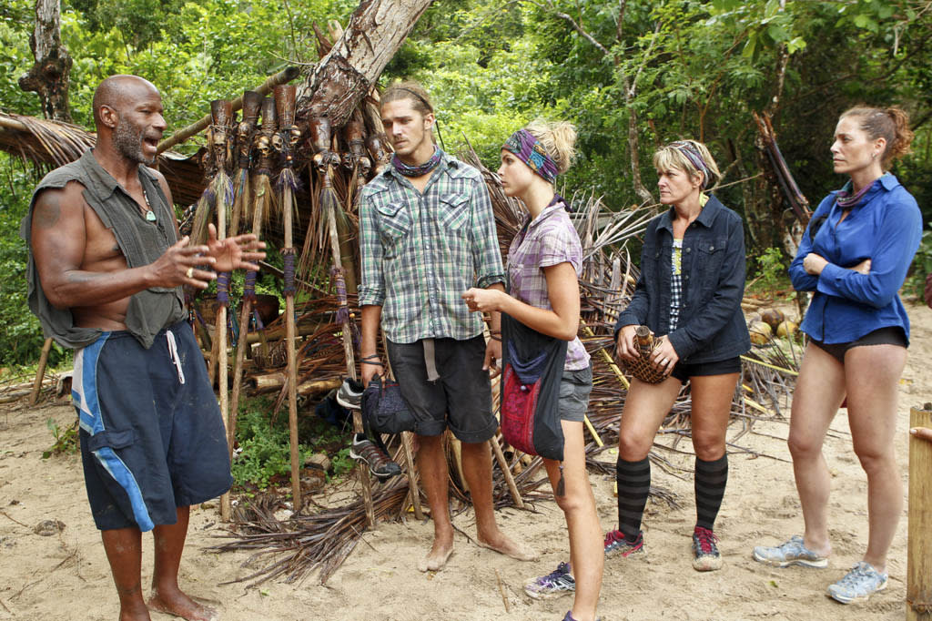 """""""Operation Thunder Dome"""" - Phillip Sheppard talks with the Bikal Tribe during the sixth episode of """"Survivor: Caramoan - Fans vs. Favorites."""""""