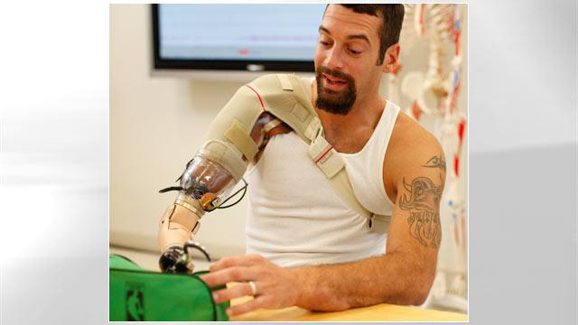 Bionic Arm Means One Less Battle for Wounded Warrior (ABC News)