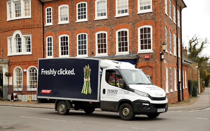 A Tesco food delivery van - Reuters