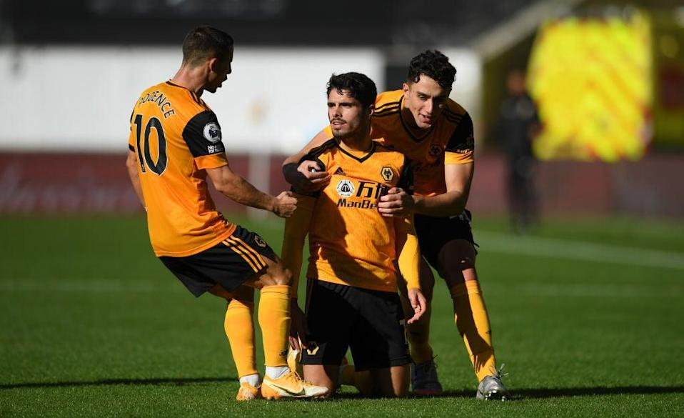 Wolves celebrate scoring (Getty Images)
