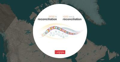 Paths to Reconciliation logo (CNW Group/Royal Canadian Geographical Society)