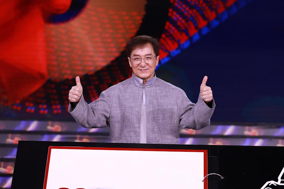 BEIJING, CHINA - JULY 15: Actor Jackie Chan attends a press conference of the 6th Jackie Chan International Action Film Week on July 15, 2021 in Beijing, China. (Photo by VCG/VCG via Getty Images)