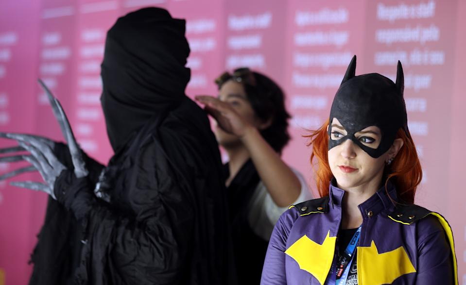 Cosplayers prepare backstage during the Sao Paulo Comic Con Experience in Sao Paulo, Brazil December 6, 2018. REUTERS/Paulo Whitaker
