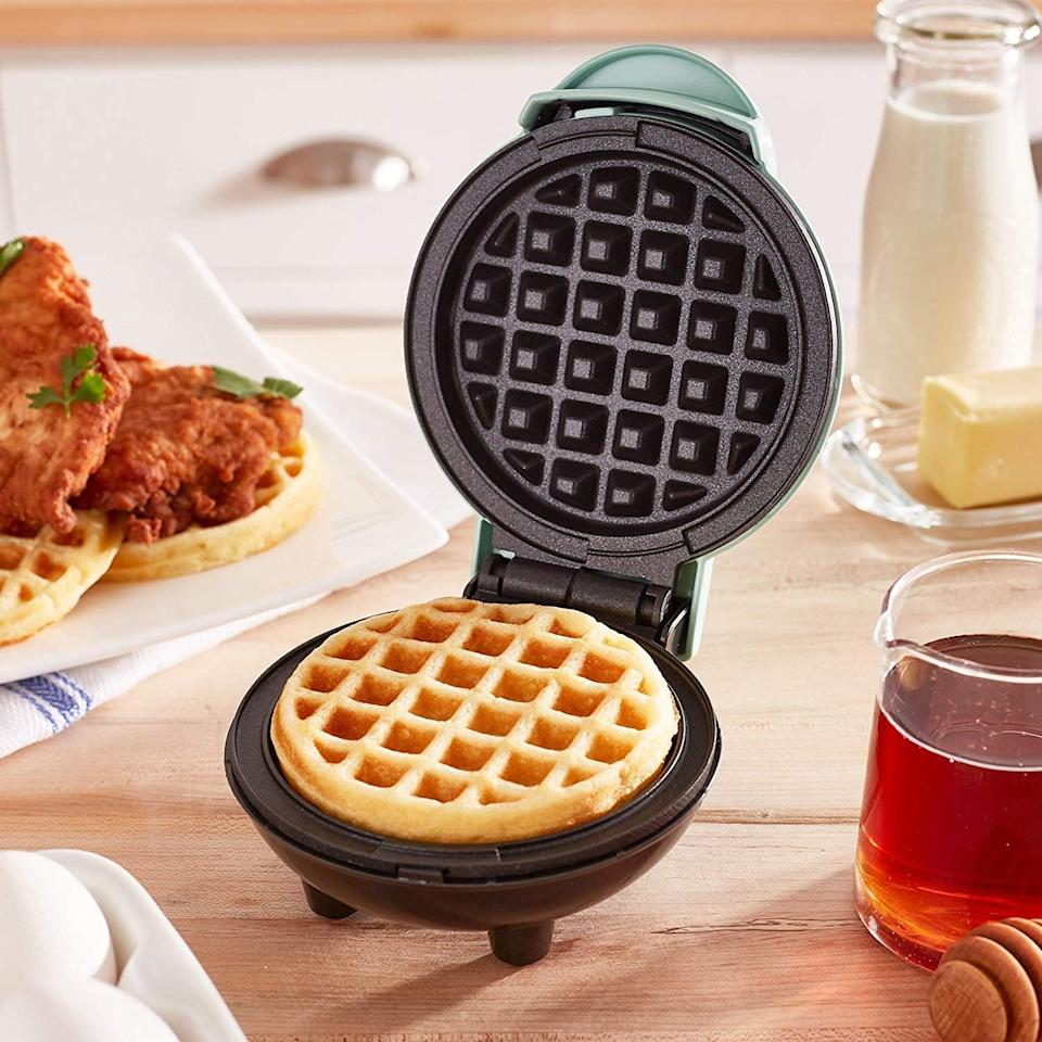 <p>Breakfast will be more fun with this <span>Dash Mini Maker The Mini Waffle Maker Machine</span> ($10, originally $15).</p>