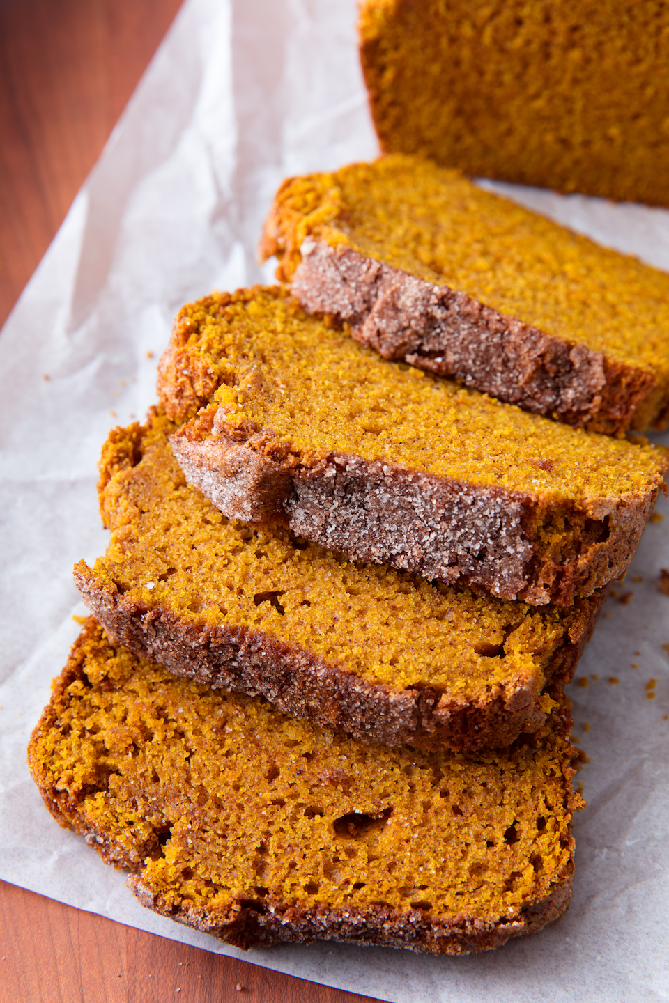 """<p>Feel free to add in chocolate chips or nuts, or just leave it perfectly plain.</p><p>Get the recipe from <a href=""""https://www.delish.com/cooking/recipe-ideas/a21581148/best-pumpkin-bread-recipe/"""" rel=""""nofollow noopener"""" target=""""_blank"""" data-ylk=""""slk:Delish"""" class=""""link rapid-noclick-resp"""">Delish</a>.</p>"""