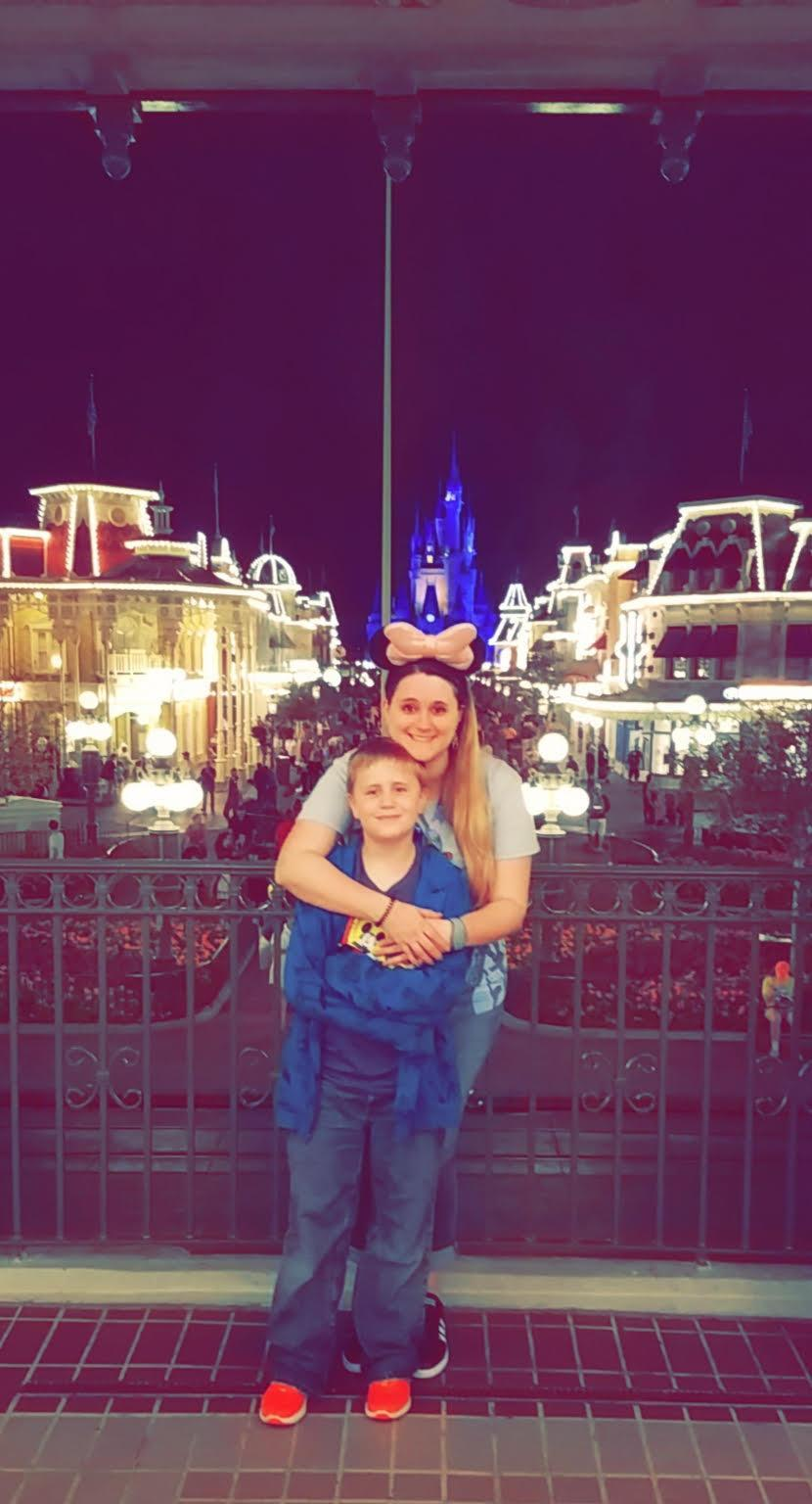 Danielle Scott, 31, and her 9-year-old son Aiden at Disney World. (Credit: State Farmers Market Restaurant)