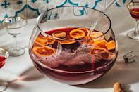 "You <em>could</em> just pour a glass of sparkling Prosecco, but we implore you to turn it into a celebratory punch with fruity, tart pomegranate juice and citrus. It's an ideal <a href=""https://www.epicurious.com/holidays-events/whats-a-good-cocktail-for-thanksgiving-gallery?mbid=synd_yahoo_rss"" rel=""nofollow noopener"" target=""_blank"" data-ylk=""slk:Thanksgiving cocktail"" class=""link rapid-noclick-resp"">Thanksgiving cocktail</a>—and the right move to bid 2020 goodbye. <a href=""https://www.epicurious.com/recipes/food/views/pomegranate-prosecco-punch?mbid=synd_yahoo_rss"" rel=""nofollow noopener"" target=""_blank"" data-ylk=""slk:See recipe."" class=""link rapid-noclick-resp"">See recipe.</a>"