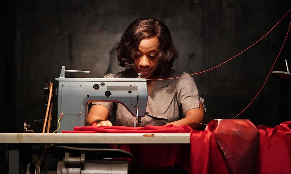 <p>Peter Strickland (<i>The Duke of Burgundy</i>, LFF 2014) returns to the Festival with <i>In Fabric</i>, starring Marianne Jean-Baptiste and Gwendoline Christie. A haunting ghost story, laced with lashings of oddball humour and set against the backdrop of a busy winter sales period in a strange department store, it follows the life of a cursed dress as it passes from person to person, with devastating consequences. </p>