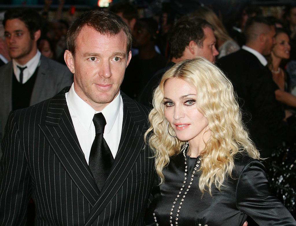 """Director <a href=""""http://movies.yahoo.com/movie/contributor/1800023092"""">Guy Ritchie</a> and <a href=""""http://movies.yahoo.com/movie/contributor/1800038606"""">Madonna</a> at the London Premiere of <a href=""""http://movies.yahoo.com/movie/1809921368/info"""">RocknRolla</a> - 09/01/2008"""