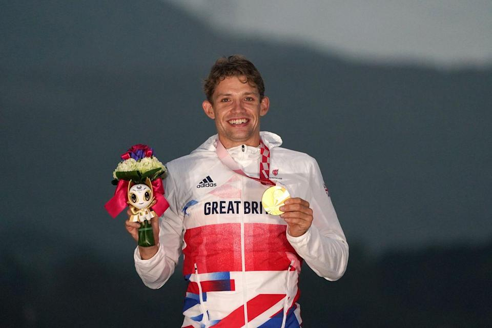 <p>Great Britain secured gold and silver medals in the men's C1-3 road race, with Benjamin Watson crossing the finish line first, followed by his teammate Finlay Graham. </p>