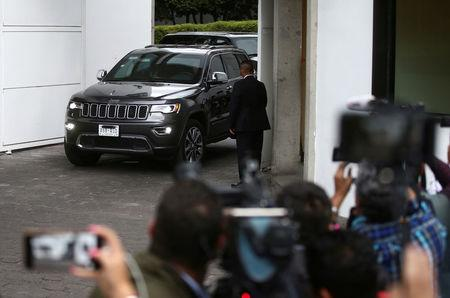 A convoy of SUVs including one transporting Jared Kushner, senior adviser to U.S. President Donald Trump, leaves Los Pinos presidential residence after Kushner met with Mexican President Enrique Pena Nieto, in Mexico City, Mexico March 7, 2018. REUTERS/Edgard Garrido