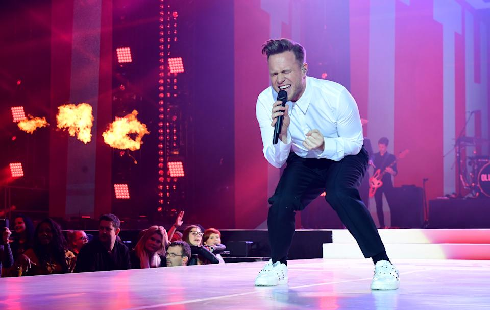 Olly Murs on stage during day one of Capital's Jingle Bell Ball with Coca-Cola at London's O2 Arena.