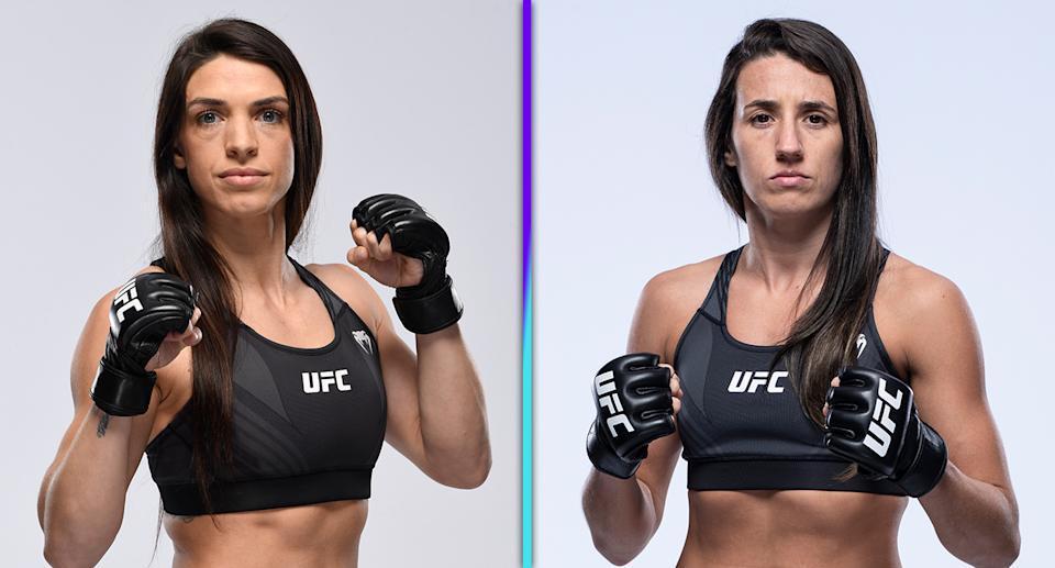 Mackenzie Dern (11-1) faces Marina Rodriguez (14-1-2) on Saturday in the main event of UFC Vegas 38 at Apex. (Photos via Getty Images)