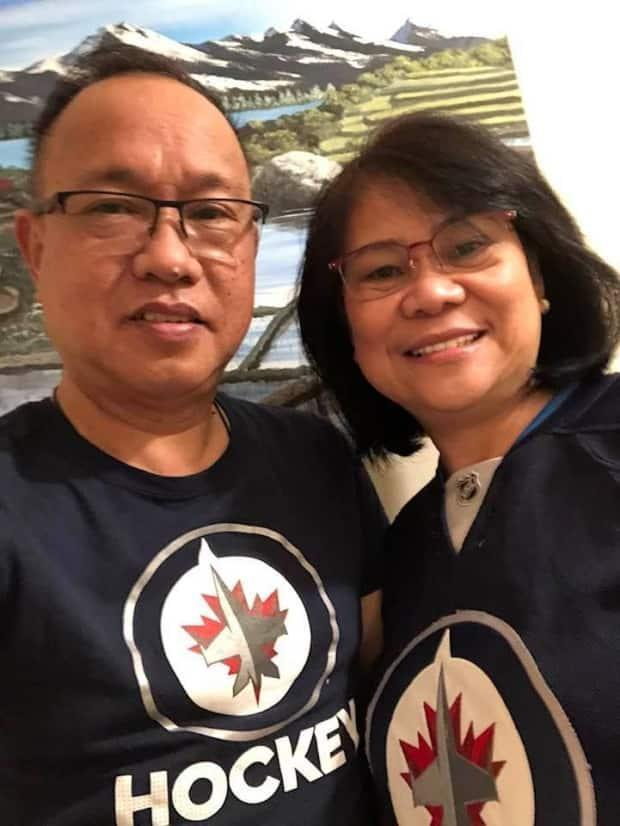 Ernesto Ofiaza Jr. and his wife, Catherine Ofiaza, have recorded a song in Tagalog about the importance of getting vaccinated against COVID-19.  (Ernesto Ofiaza Jr./Facebook - image credit)