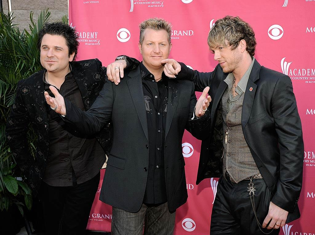 """For the first time in a long time, Rascal Flatts strolled the red carpet in decent outfits. Perhaps the guys finally hired that much needed stylist! Charley Gallay/<a href=""""http://www.gettyimages.com/"""" target=""""new"""">GettyImages.com</a> - May 18, 2008"""