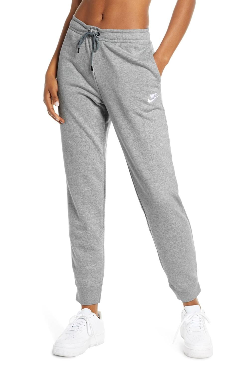 <p>Cold-weather workouts are a piece of cake, thanks to these <span>Nike Sportswear Essential Fleece Pants</span> ($60).</p>