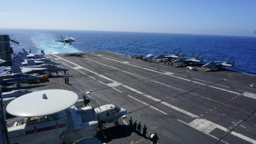 <p>'US presence matters' says admiral on carrier in the South China Sea</p>