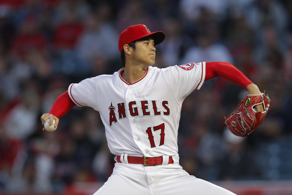 One website is willing to pay $60,000 for an unreleased Shohei Ohtani card. (AP Photo)