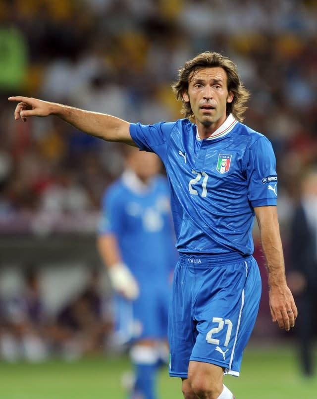 Andrea Pirlo, pictured, shone as Italy dumped England out of Euro 2012 (Anthony Devlin/PA)