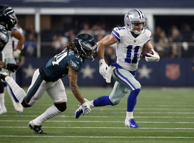 Receiver Cole Beasley said on Twitter that the Cowboys' front office determines who gets the ball during games. (AP)