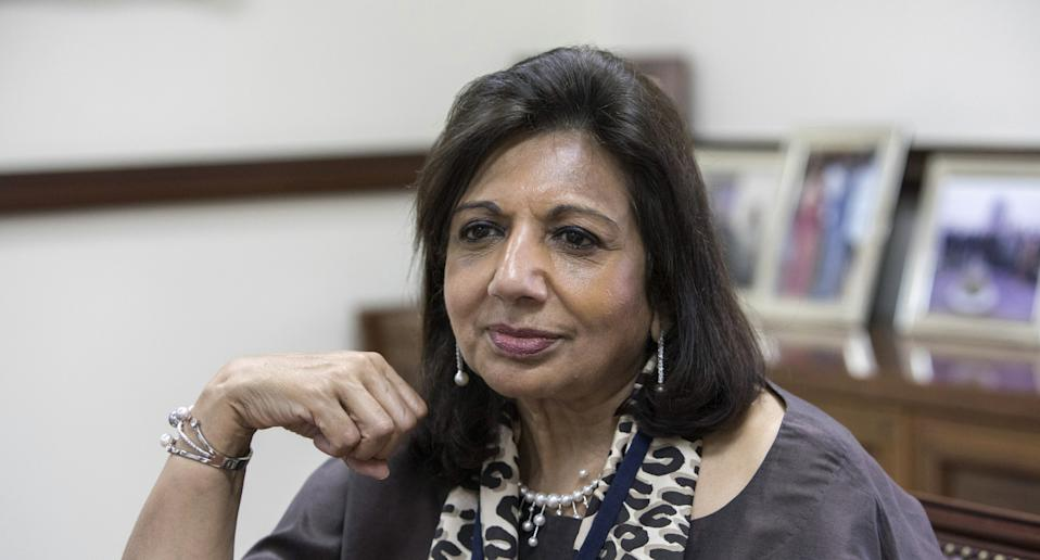 With a net worth of 36,600 crore, Biocon chairperson Kiran Mazumdar-Shaw is the second-richest woman in India. Photo: Getty Images