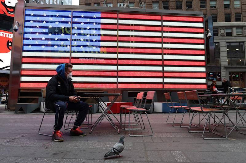 Man in Times Square