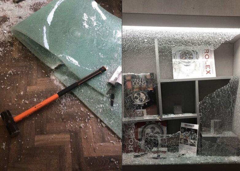 Spencer Matthews shared photos of the jeweller's shop after thieves raided it while he hid in the vault. (Credit: Instagram/Spencer Matthews)