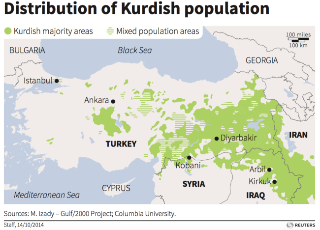 kurds kurdish population