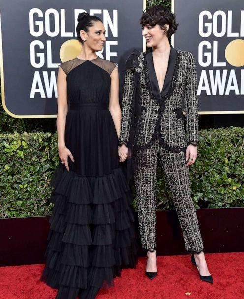 PHOTO: Sian Clifford and Phoebe Waller-Bridge pose on the red carpet at the 77th Annual Golden Globe Awards at The Beverly Hilton Hotel on Jan. 05, 2020, in Beverly Hills, Calif. (Axelle/bauer-griffin/FilmMagic via Getty Images)