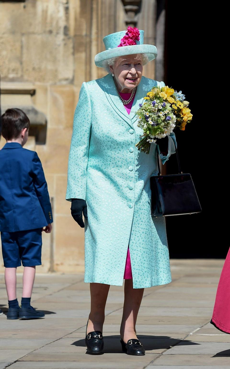 The Queen on Easter Sunday in 2019 - AFP