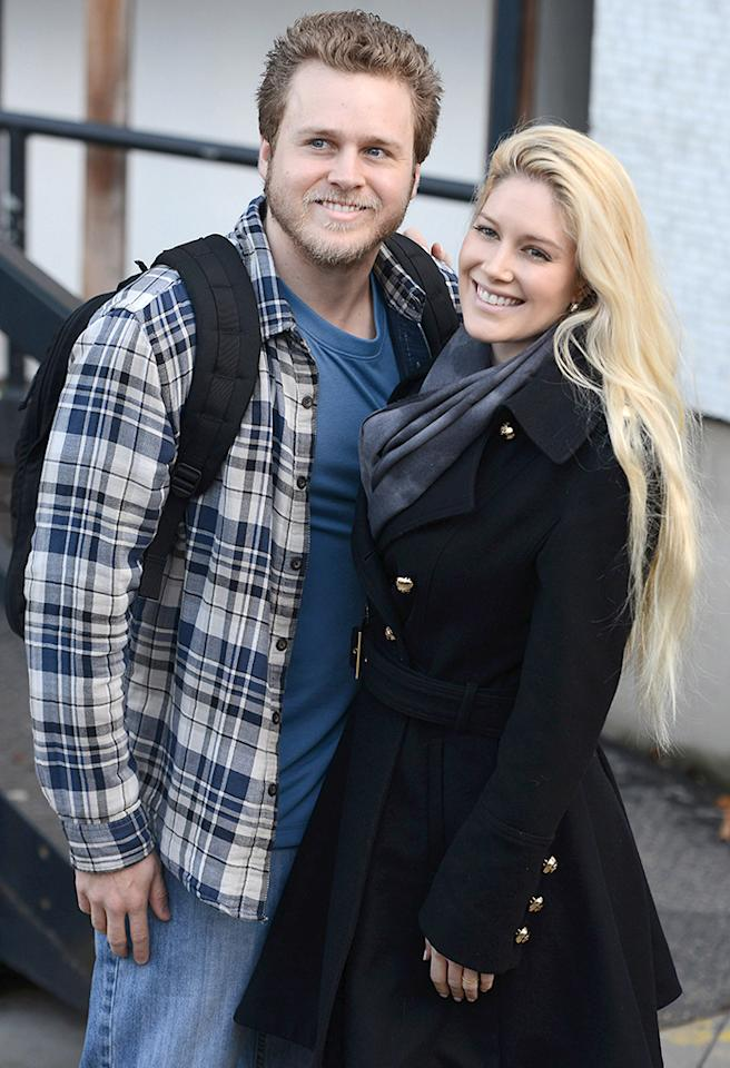 LONDON, UNITED KINGDOM - JANUARY 30: Heidi Pratt and Spencer Pratt seen at The ITV Studios after appearing on Loose Women on January 30, 2013 in London, England. (Photo by Neil Mockford/FilmMagic)