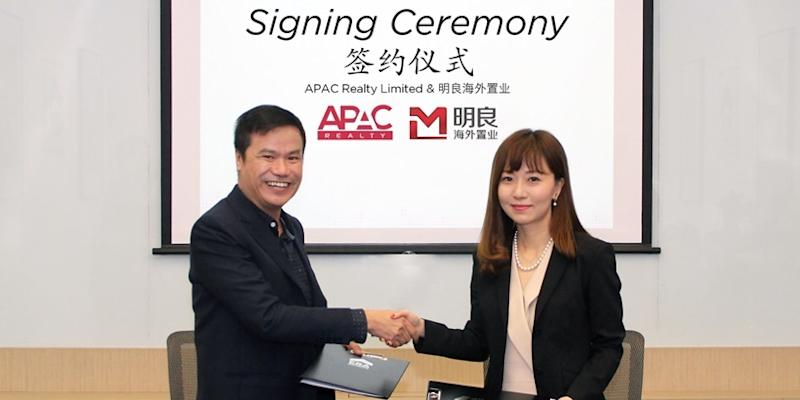 <p><img/></p>Singapore-listed real estate brokerage APAC Realty, which operates under the ERA brand, on Wednesday (14 Mar) inked a partnership agreement with MLN Overseas (Singapore)...