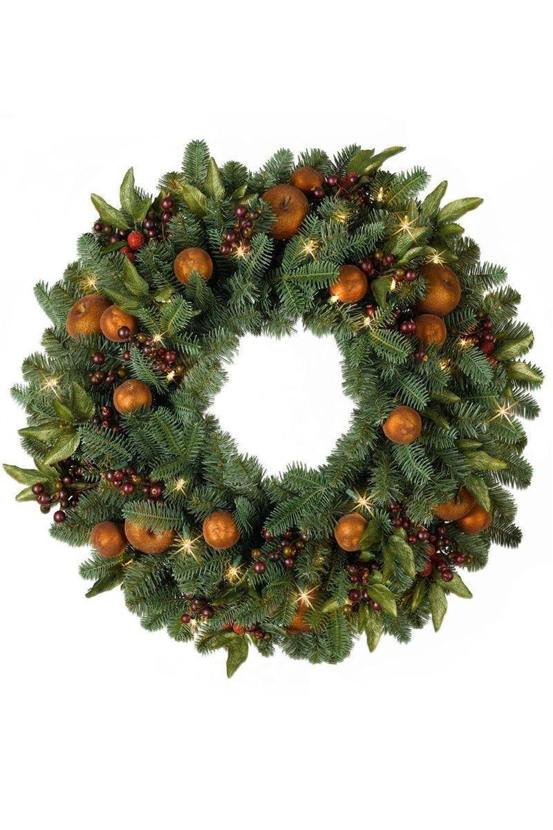 "<p><strong>Write a Review</strong></p><p>balsamhill.com</p><p><strong>$99.00</strong></p><p><a href=""https://www.balsamhill.com/p/orchard-harvest-artificial-wreath-garland-foliage?sku=5024125"" rel=""nofollow noopener"" target=""_blank"" data-ylk=""slk:Shop Now"" class=""link rapid-noclick-resp"">Shop Now</a></p><p>This wreath is equally as bountiful and has the red and green colors of the season.</p>"