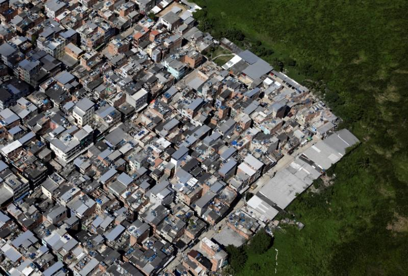 An aerial view of the Rio das Pedras slum during the coronavirus disease (COVID-19) outbreak