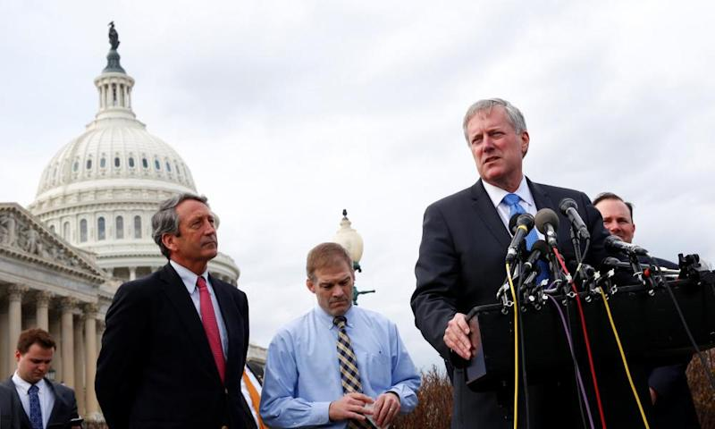 Mark Meadows, chairman of the House Freedom Caucus, said he's 'hoping to get to a yes before 7 o'clock tonight'.