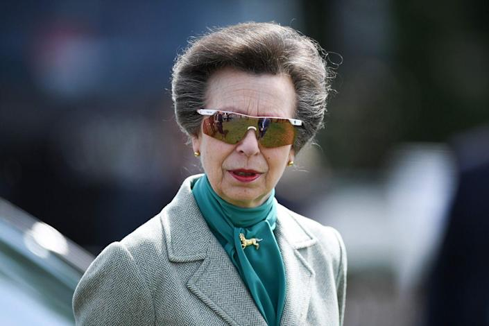 <p>Though you'll often find her sporting a tweed ensemble or a classic Barbour jacket, Princess Anne lets her personality shine with her accessories. In recent decades, the Princess Royal has taking a liking to sporty, futuristic sunglasses, like the ones shown here. Paired with her practical British wardrobe, we feel that Anne's fashion sense paints a perfect picture of her personality. </p>