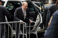 Film producer Harvey Weinstein arrives at New York Criminal Court for his ongoing sexual assault trial in the Manhattan borough of New York City