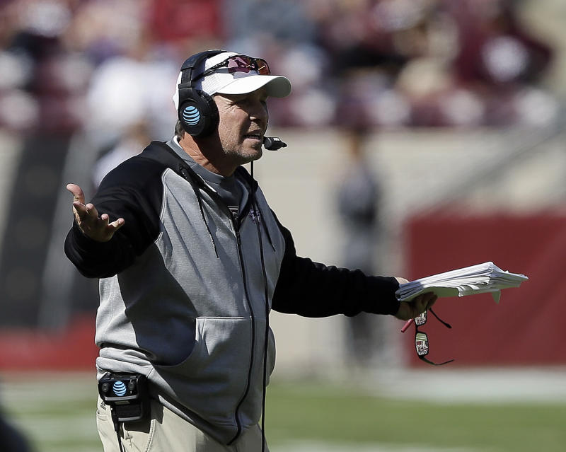 Texas A&M coach Jimbo Fisher is sitting on a gold mine of high school talent. (Bob Levey/Getty Images)