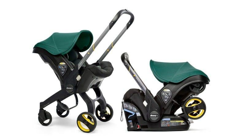 The Doona is a stroller that turns into a carseat.