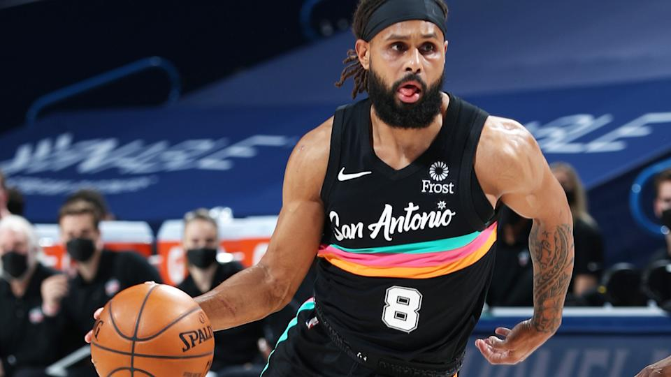 Patty Mills has signed with the Brooklyn Nets for the 2021/22 NBA season, ending his career with the San Antonio Spurs. (Photo by Zach Beeker/NBAE via Getty Images)