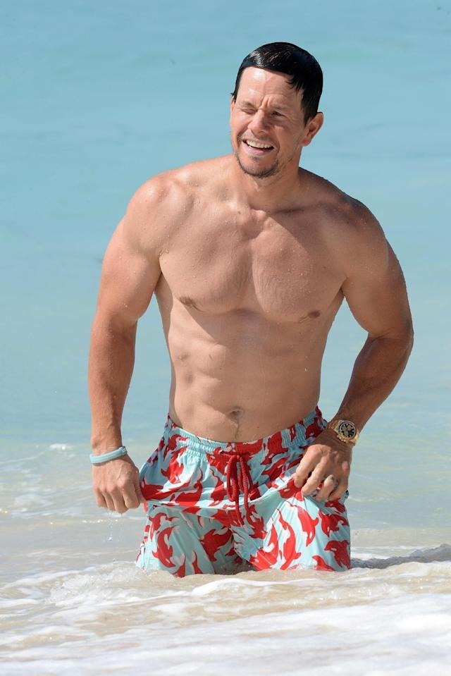 "<p>Hey, Mark Wahlberg, are those <a href=""https://www.yahoo.com/entertainment/national-underwear-day-000000092.html"" data-ylk=""slk:Calvin Klein trunks;outcm:mb_qualified_link;_E:mb_qualified_link"" class=""link rapid-noclick-resp"">Calvin Klein trunks</a>? The rapper-turned-actor sported them during a vacation in Barbados. (Photo: Six/Backgrid) </p>"
