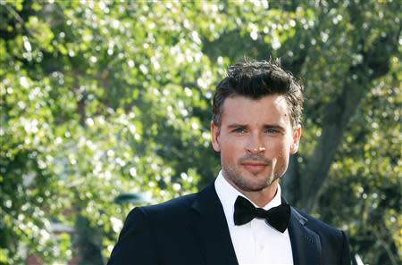 """Actor Tom Welling poses during a red carpet for the movie """"Parkland"""", directed by Peter Landesman, during the 70th Venice Film Festival in Venice September 1, 2013. REUTERS/Alessandro Bianchi"""