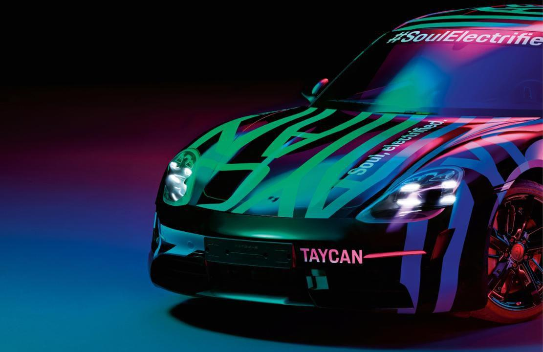 """<p>We're getting closer to the official debut of <a rel=""""nofollow"""" href=""""https://www.caranddriver.com/porsche/taycan"""">the Porsche Taycan</a>, and these photos and sketches show the new electric sedan in a closer-to-production form.       The Taycan was originally previewed by the Mission E concept, and it's now all but confirmed that the final car will have similar styling, as we saw <a rel=""""nofollow"""" href=""""https://www.caranddriver.com/news/g26347641/porsche-taycan-ev-spy-photos-details/"""">in recent spy photos</a>.       Porsche will present the car in full this September, likely at the 2019 Frankfurt auto show, and the company says the Taycan will be on sale by the end of the year.</p>"""