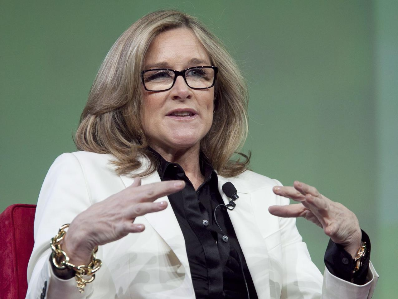 <p>No. 13: Angela Ahrendts, SVP, Retail, Apple<br />The former Burberry head was poached by Tim Cook to join Apple in 2014, and the 51-year-old is responsible for the tech giant's largest store redesign in 15 years, <em>Fortune</em> reports. She's Apple's highest-ranking woman and oversees 60,000 retail employees and shapes the experience of over 1 million daily in-store shoppers.<br />Company Financials (2016, or most recently completed fiscal year)<br />Revenues ($M) 215639<br />Profits ($M) 45687<br />Market Value as of 9/14/17 ($M) 817552.3<br />(Canadian Press) </p>
