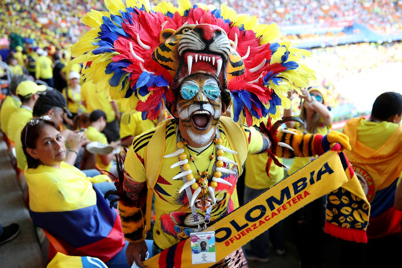 <p>during the 2018 FIFA World Cup Russia group H match between Colombia and Japan at Mordovia Arena on June 19, 2018 in Saransk, Russia. </p>