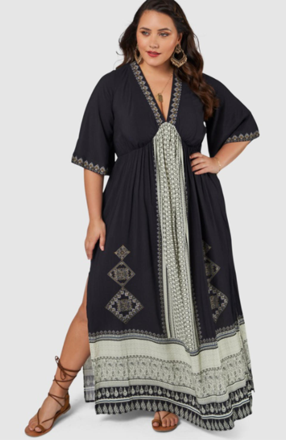The Poetic Gypsy Crystal Illusion Maxi Dress, $139.99 from The Iconic. Photo: The Iconic.