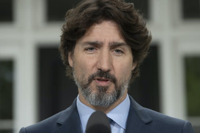 Canada's Trudeau pauses when asked about Trump clearing protesters