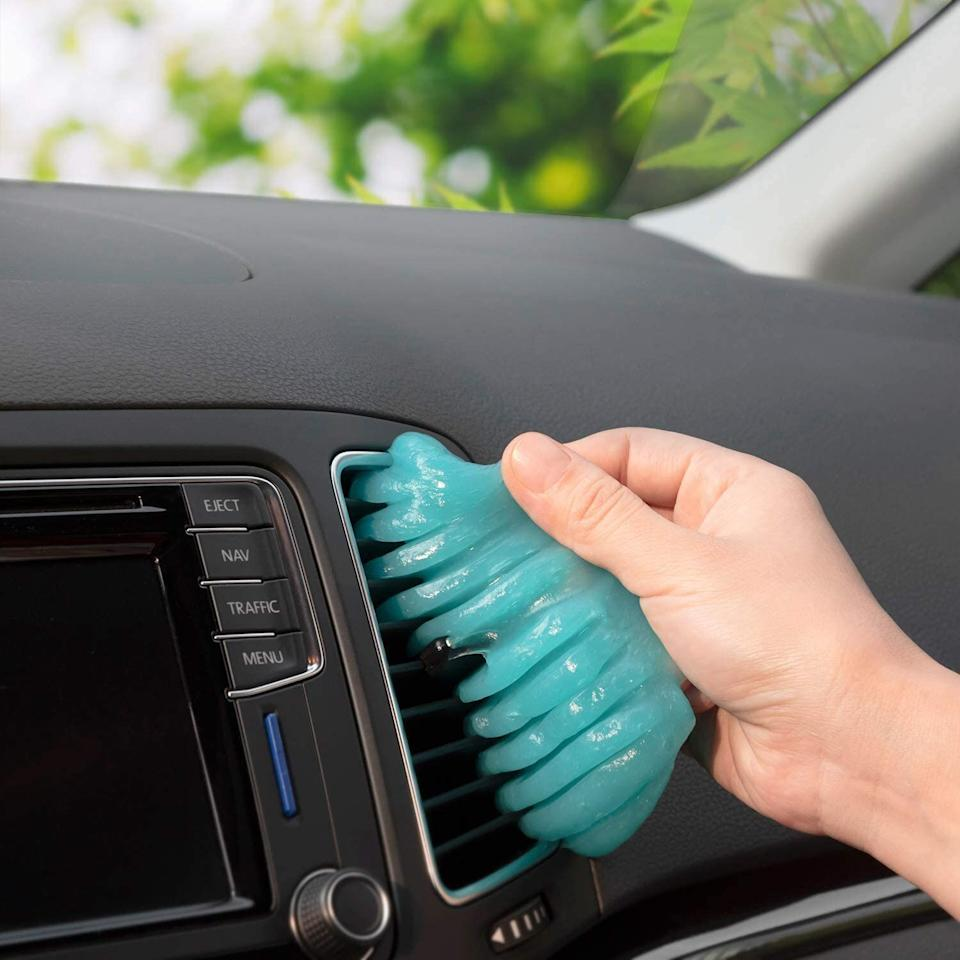 """<a href=""""https://amzn.to/2YUIgeN"""" target=""""_blank"""" rel=""""noopener noreferrer"""">This cleaning gel</a>is marketed for car detail cleaning (air vents, console, etc.), but it can also be used around the house in hard-to-clean spaces. Use it on keyboards, in fans, on speakers and other tight corners where dust builds up. It's a top seller for a reason.<a href=""""https://amzn.to/2YUIgeN"""" target=""""_blank"""" rel=""""noopener noreferrer"""">Get it on Amazon</a>."""